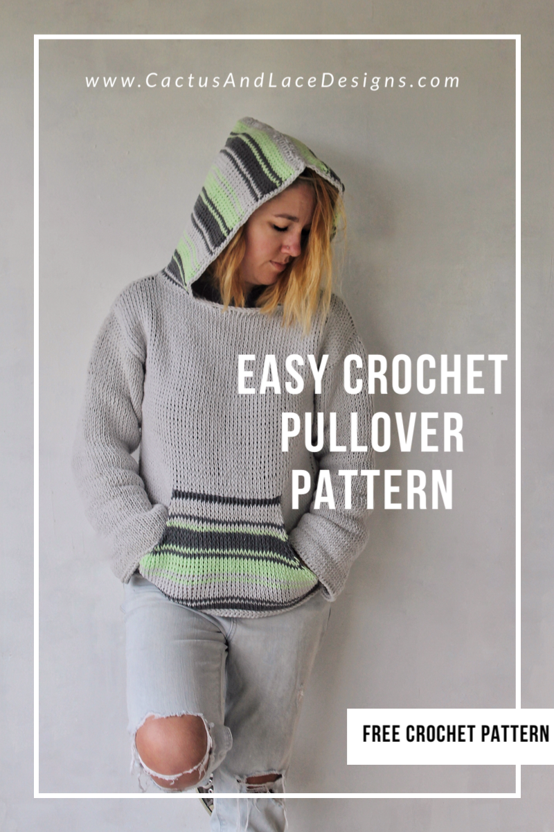 Easy Crochet Pullover Free Pattern Cactus And Lace Designs